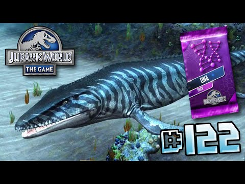 Mosasaur levelled up & DNA Pack! || Jurassic World - The Game - Ep 122 HD