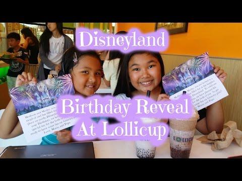 Disneyland Birthday Reveal At Lollicup