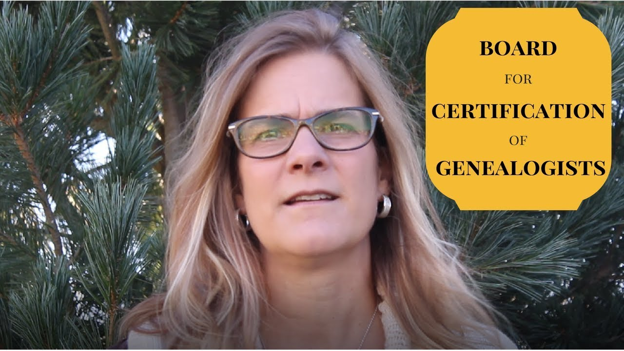 What Is Board For Certification Of Genealogists Youtube