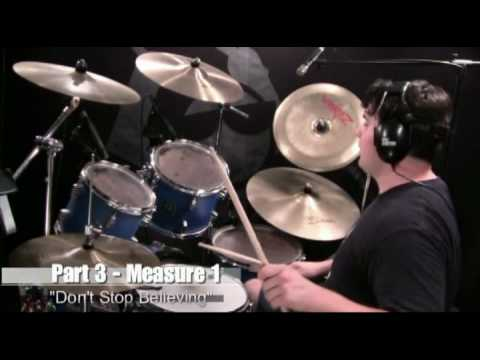 Drum Lesson - Don't Stop Believing - Journey - By Nate Brown