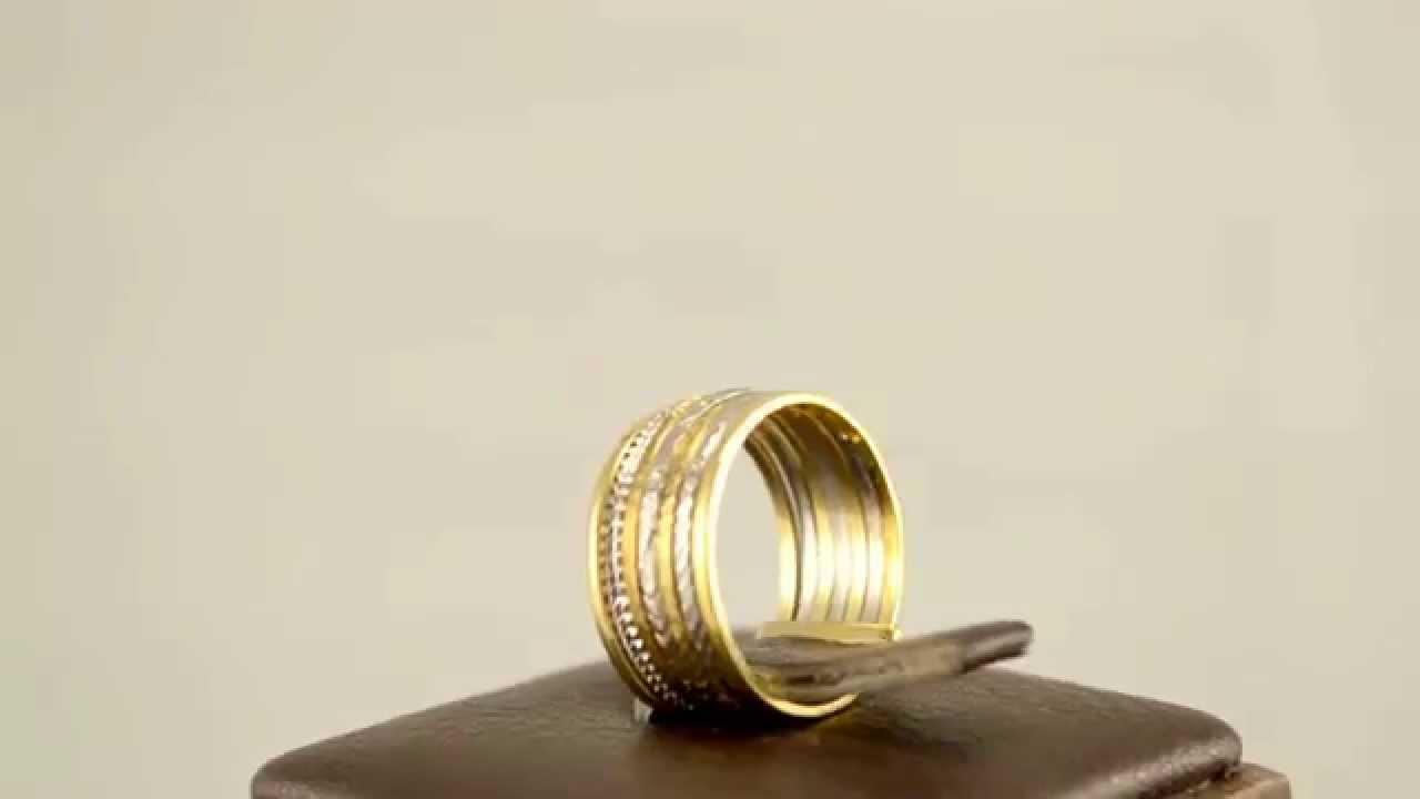 Anel em ouro 18k modelo 7 elos com cinta super resistente AN063 - YouTube a027efabdf