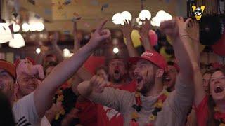 Belgische fans uitzinnig: ''Jantje Boskamp, we worden kampioen'' - VI ORANJE BLIJFT THUIS