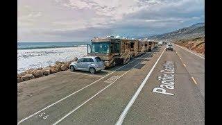 Rincon Parkway Ocean Front RV Camping - PCH Highway Ventura CA