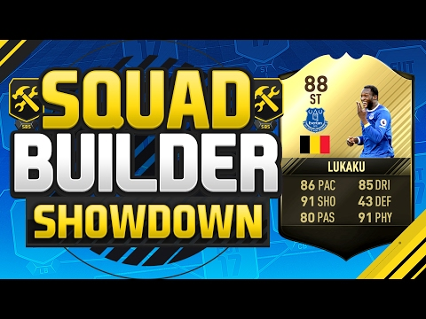 FIFA 17 SQUAD BUILDER SHOWDOWN!!! 88 RATED LUKAKU!!! Third Inform Romelu Lukaku Squad Duel