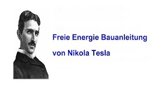 Energie freie maschine tesla nikola Nikola Teslas