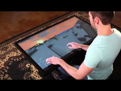 "Playing Minecraft on 46"" Multitouch Coffee Table with Android 4.4 KitKat"