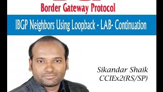 IBGP Neighbors Using Loopback - LAB - Continuation - By Sikandar Shaik || Dual CCIE (RS/SP) # 35012