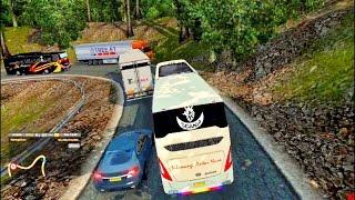 ETS 2    Aksi SAN ngeblong di Alas Roban serempet mobil kabur    MOD BUS DAN TRUK INDONESIA