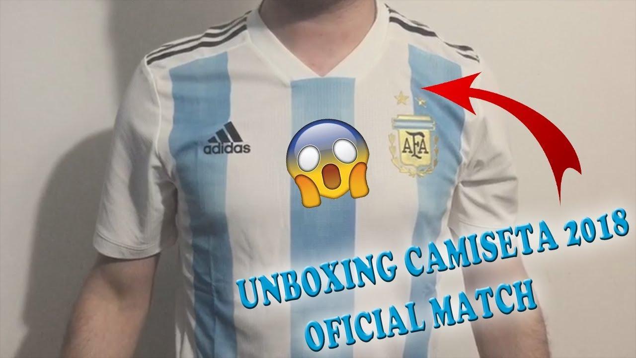UNBOXING CAMISETA DE ARGENTINA 2018 OFICIAL MATCH!! - YouTube 4701c851b4266