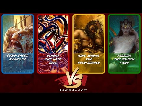 Commander VS S7E1: Dune-Brood vs Ulasht vs King Macar vs Tasigur [MTG]