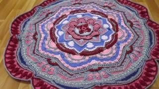 ВяжиСоМной-2: Удивительная мандала - коврик крючком от Хелен Шримптон!