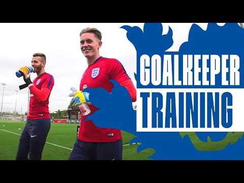 England U21 Goalkeeper reaction & shot stopping session | In