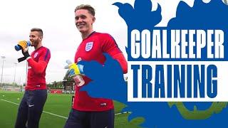 England U21 Goalkeeper reaction & shot stopping session | Inside Training