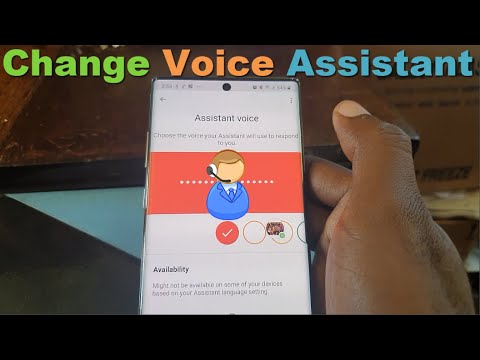 Change Google Assistant Voice Galaxy Note 10 And 10 Plus