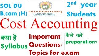 cost accounting topics