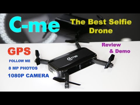 The amazing C-ME Selfie Camera Drone with GPS - Review & Demo