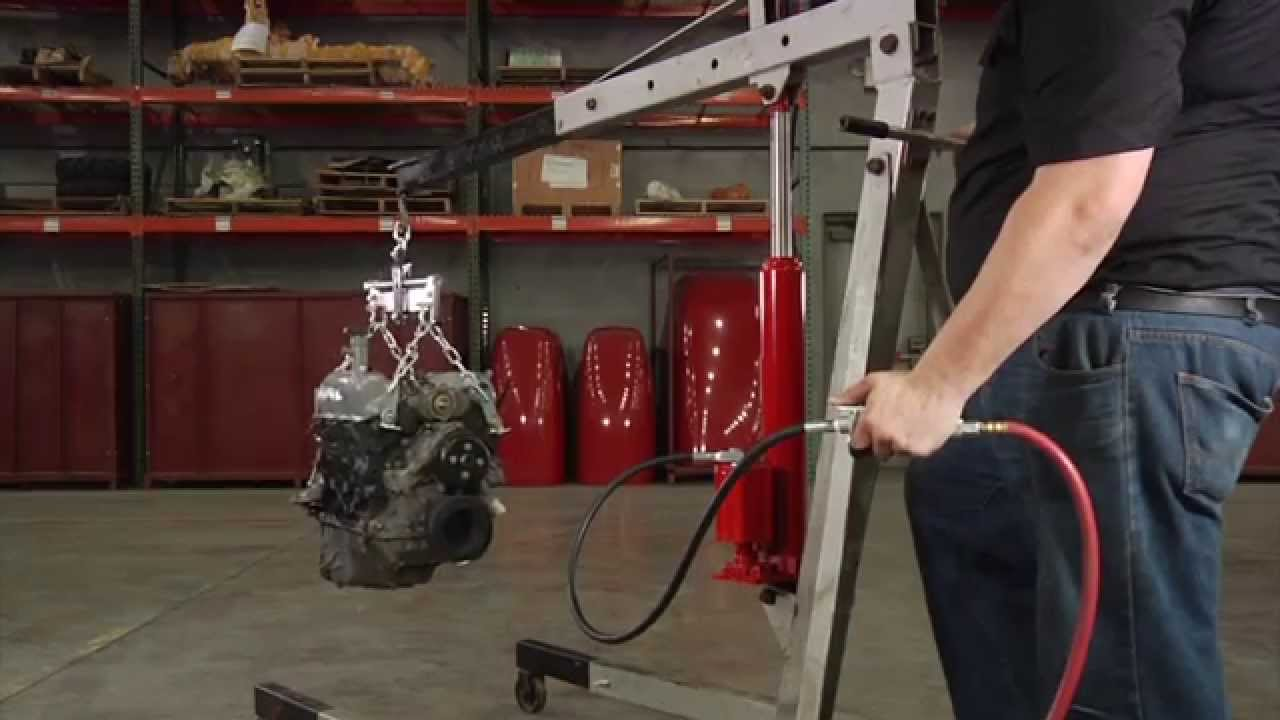 8 TON AIR AND  HYDRAULIC LONG RAM BOTTLE JACK ENGINE HOIST CHERRY PICKER TOOLS
