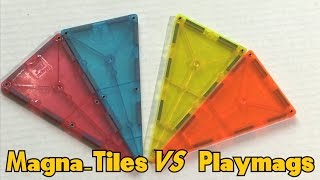 Magna-tiles Vs Playmags Magnetic Building Blocks