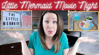 The Little Mermaid Movie Night - Disney Movie Night Idea with Little Mermaid themed recipes