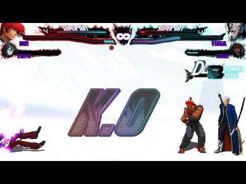 Mugen Iori And Kirito Versus Vergil And Akuma