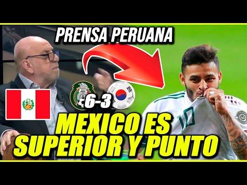 PRENSA PERUANA ELOGIA A MEXICO POR GOLEADA A COREA !! ESTO ES MEXICO !!! juegos olimpicos tokyo