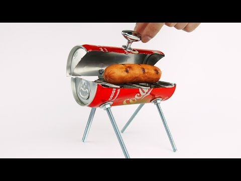 Thumbnail: DIY Amazing Mini BBQ from Coca Cola Can at Home