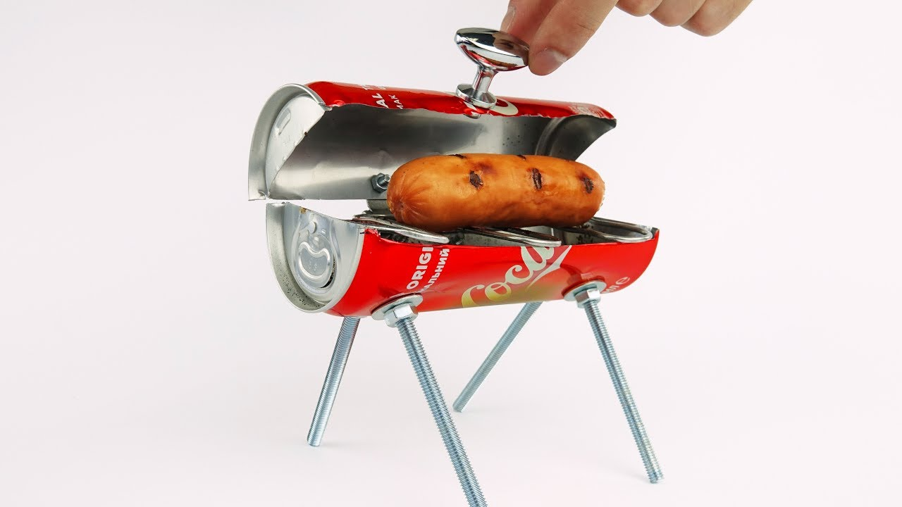 DIY Amazing Mini BBQ from Coca Cola Can at Home