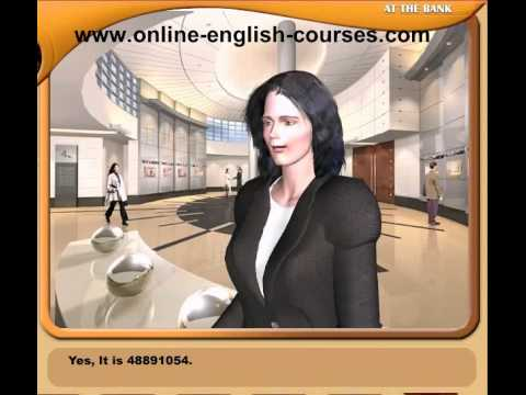 English Conversation Course About At The Bank Dialogue