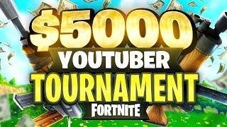 $5000 YouTuber/Streamer FORTNITE TOURNAMENT (Week 1)