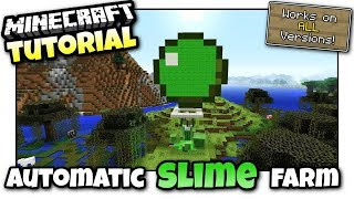 Minecraft PS4 - MINI SLIME MOB FARM - Tutorial ( PE / PS3 / XBOX / WII U )