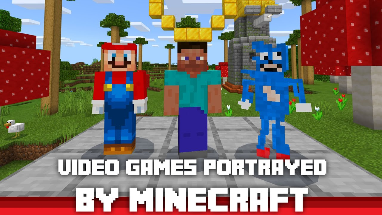 Video Games Portrayed by Minecraft 1