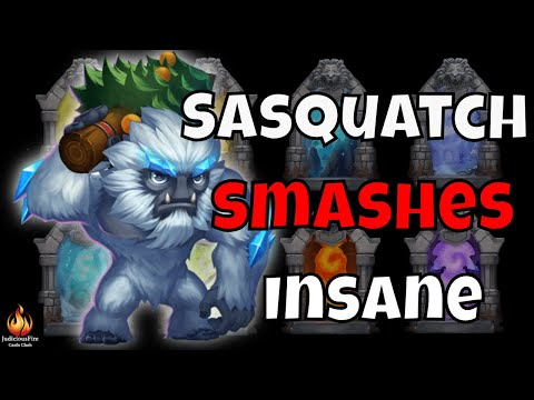 Sasquatch SMASHES Castle Clash Insane Dungeon (The Musical)