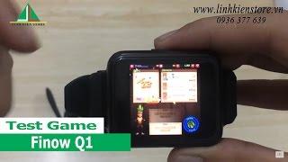 Chơi game trên đồng hồ thông minh smartwatch Finow Q1