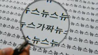 가짜뉴스 처벌법 통과호소 기자회견 국회정문 앞