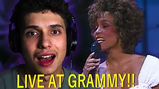 Whitney Houston - One Moment In Time - (Live at Grammy, 1989) REACTION!!