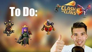 CLASH OF CLANS: To Do: Luftabwehr, Queen, Luftfeger ✭ Let's Play Clash of Clans [Deutsch/German HD]