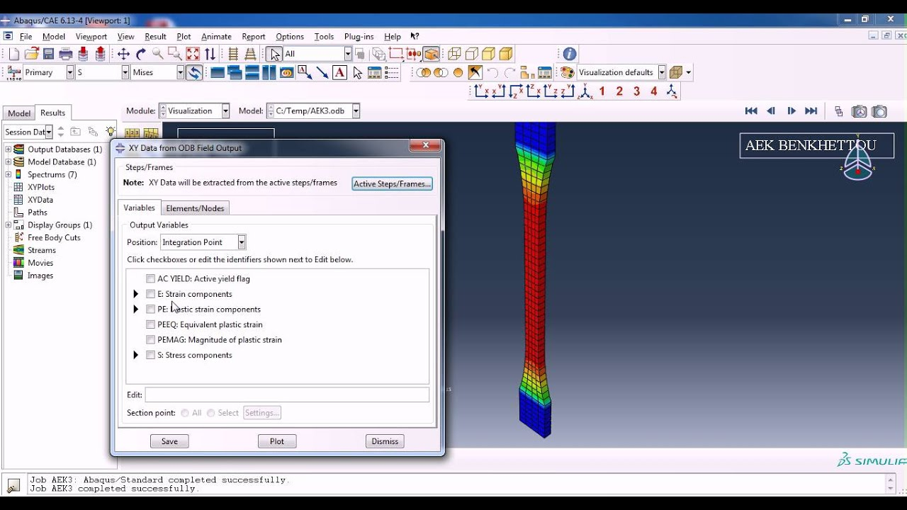 tensile test using ABAQUS part 1