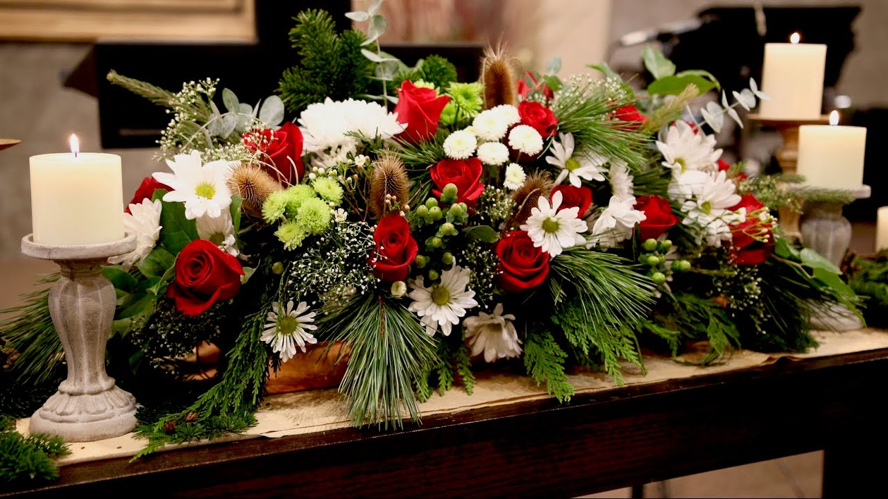 Christmas Eve Service Flower Arrangement Garden Answer Youtube