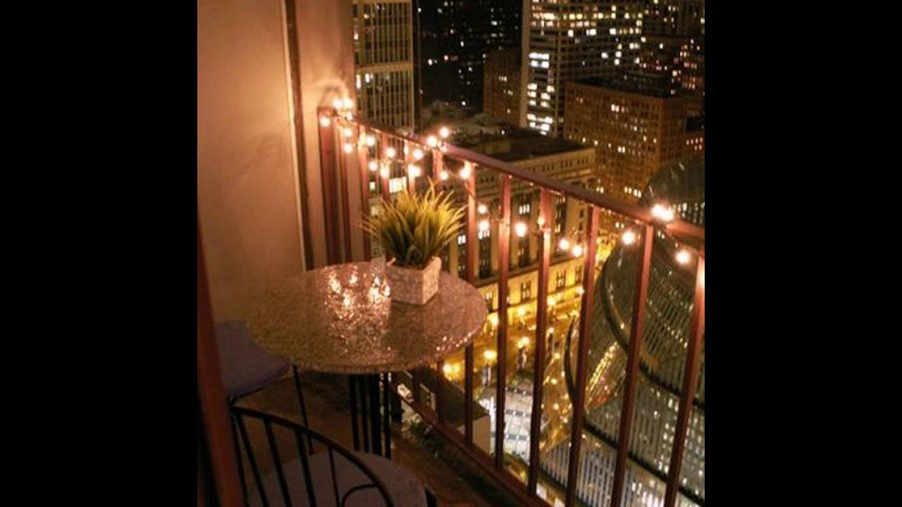 Romantic Balcony Lighting City View Youtube