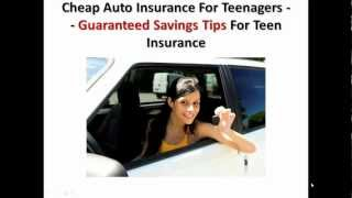 Cheap Auto Insurance For Teenagers -- Guaranteed Savings Tips For Teen Insurance