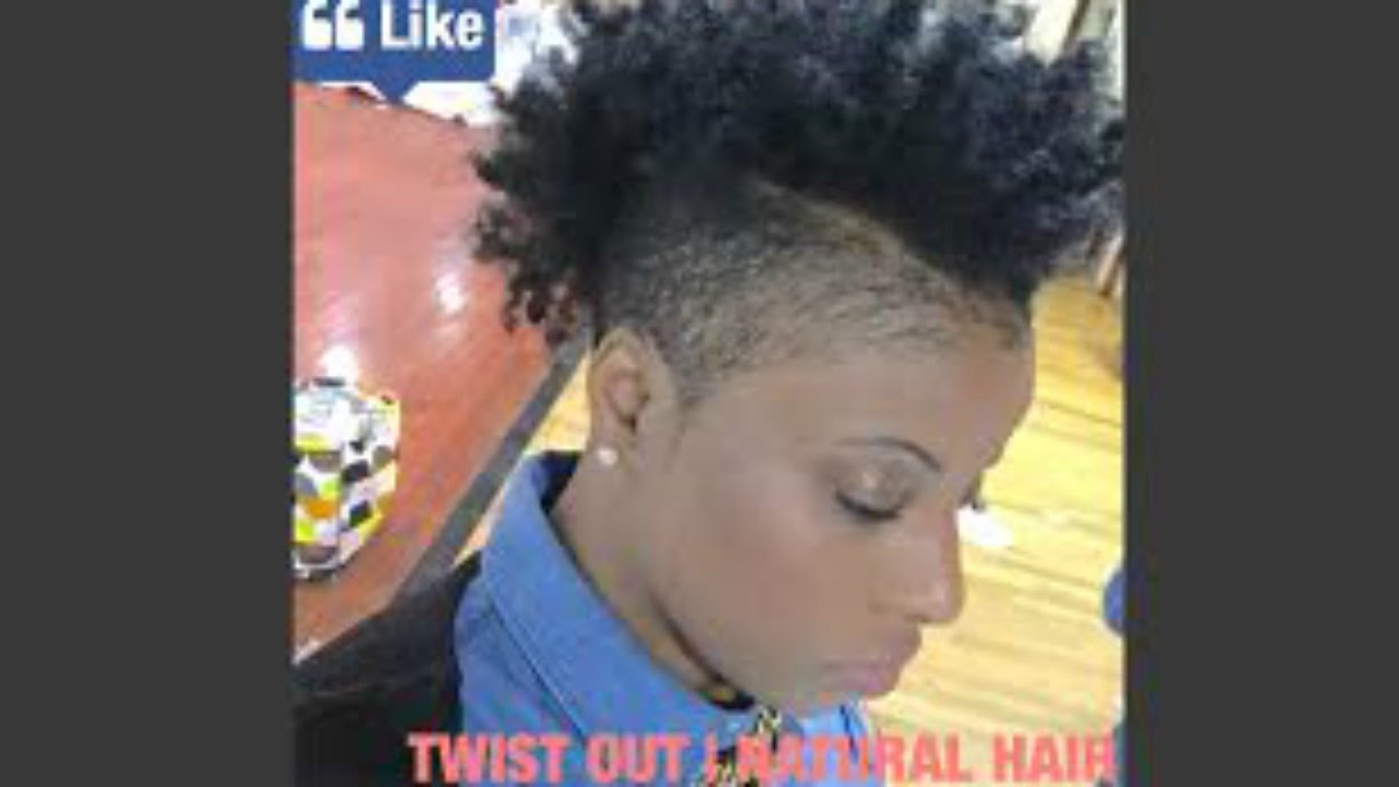 twist out on natural short hair | shaved sides edition - youtube