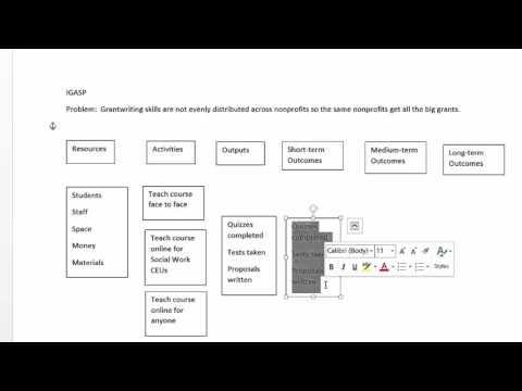 Creating A Logic Model In Microsoft Word Youtube