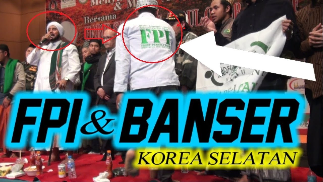 Tiba Tiba Orang Seragam Fpi Naik Panggung Jejer Banser Di Korea