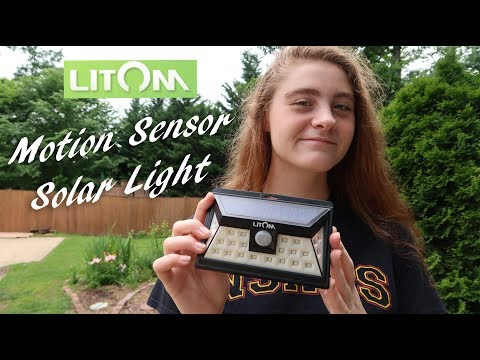 🌞LITOM 24 LED Outdoor Motion Sensor SOLAR LIGHT REVIEW 👈