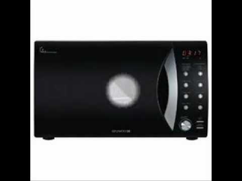 Daewoo black microwave oven - YouTube