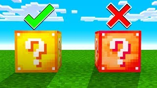DONT CHOOSE THE WRONG LUCKY BLOCK!