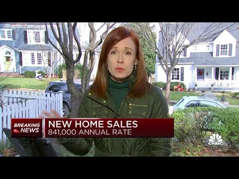 November new home sales come in at 841,000 vs. 995,000 expected