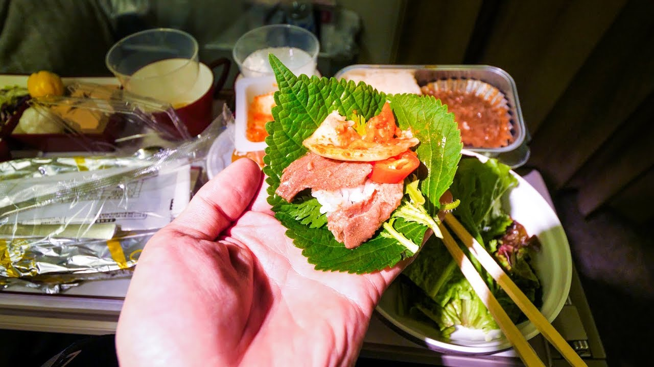 Asiana airlines food review flying from bangkok to for Asiana korean cuisine restaurant racine