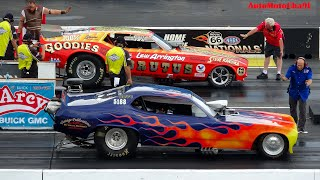 OLD school NOSTALGIA FUNNY CARS RACING CHAOS