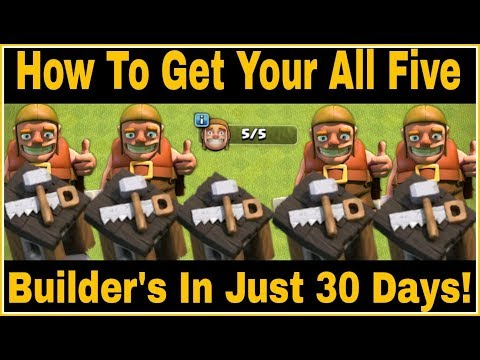 How To Get All Five(5) Builder's Hut In Just 30 Days | New Tricks And Tips | CLASH OF CLANS HINDI